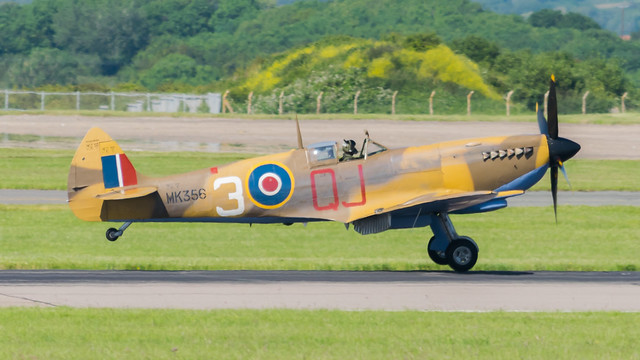 MK356 Spitfire @ Cardiff Airport 220619
