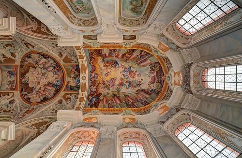ellwangen jesuitenkirche barock fresco gewölbe architekturmalerei perspektive church