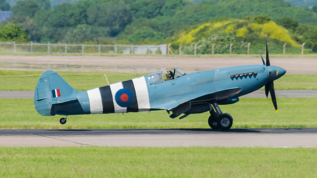 PM631 Spitfire @ Cardiff Airport 220619