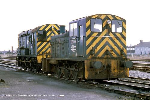 britishrail class03 03119 class08 05592 diesel shunter llanell dyfed southwales train railway locomotive railroad