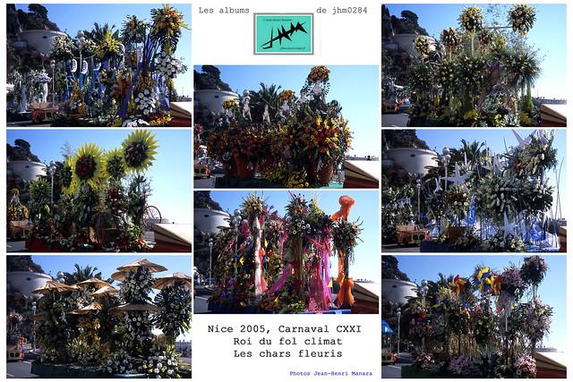 JHM-Multiple - Nice 2005, Carnaval CXXI, Roi du fol Climat, Les chars fleuris