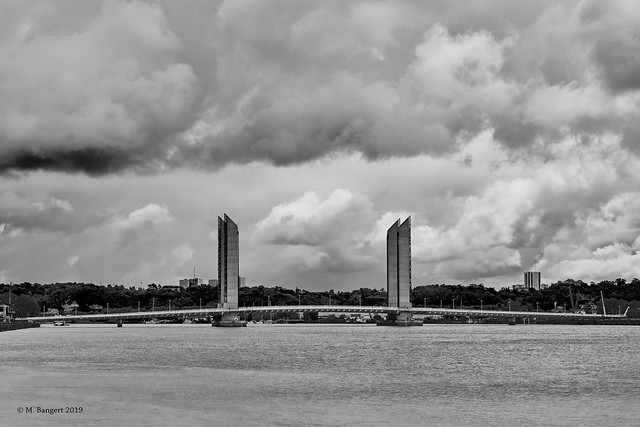 The Jacques Chaban-Delmas Bridge in Bordeaux.