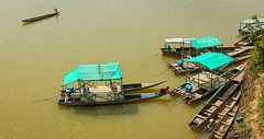 Boats on the Mekong river.