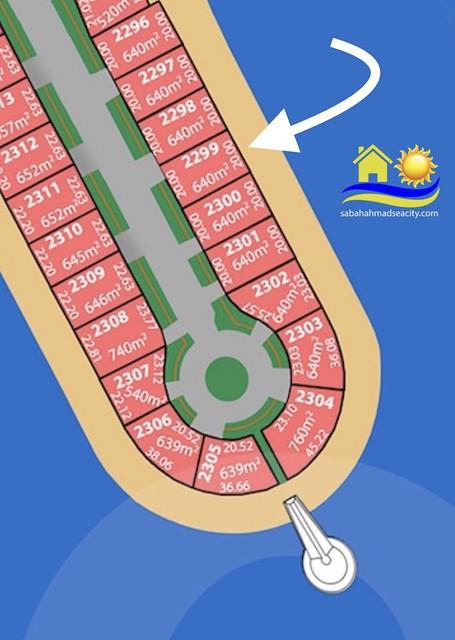 للبيع ارض على البحر في مدينة صباح الاحمد البحرية