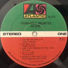 YOUNG-HOLT UNLIMITED:OH GIRL(LABEL SIDE-A)