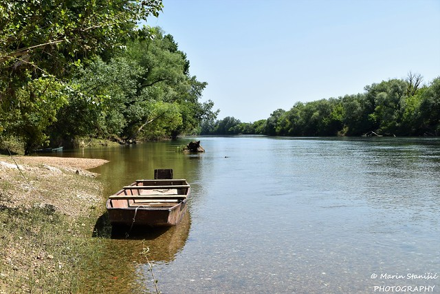 Croatia, Karlovac County, Luka Pokupska, river Kupa - Take me home my boat on the river....