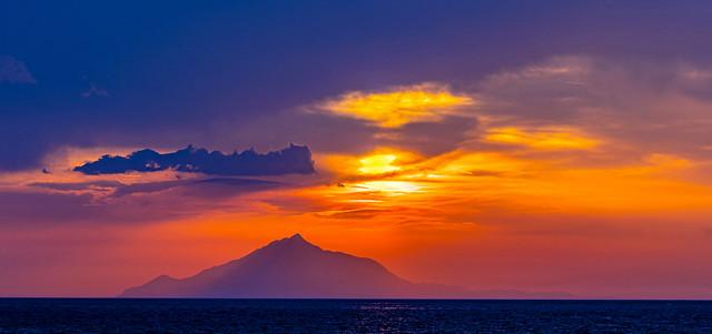 View of Mount Athos Sunset (Limnos - North East Aegean) (Panasonic Lumix S1 & S Lumix 24-105mm f4 Zoom) (1 of 1)