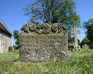 Here lyeth ye bodyes of Samuel & Elizabeth ye children of John Scot & Elizabeth his wife