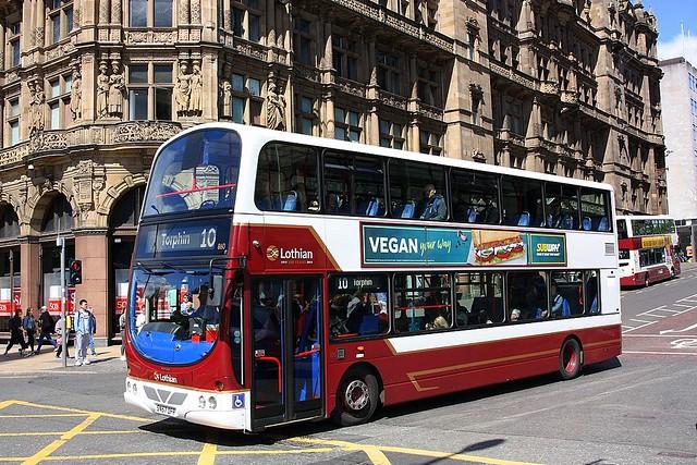 The number 10 service at Edinburgh