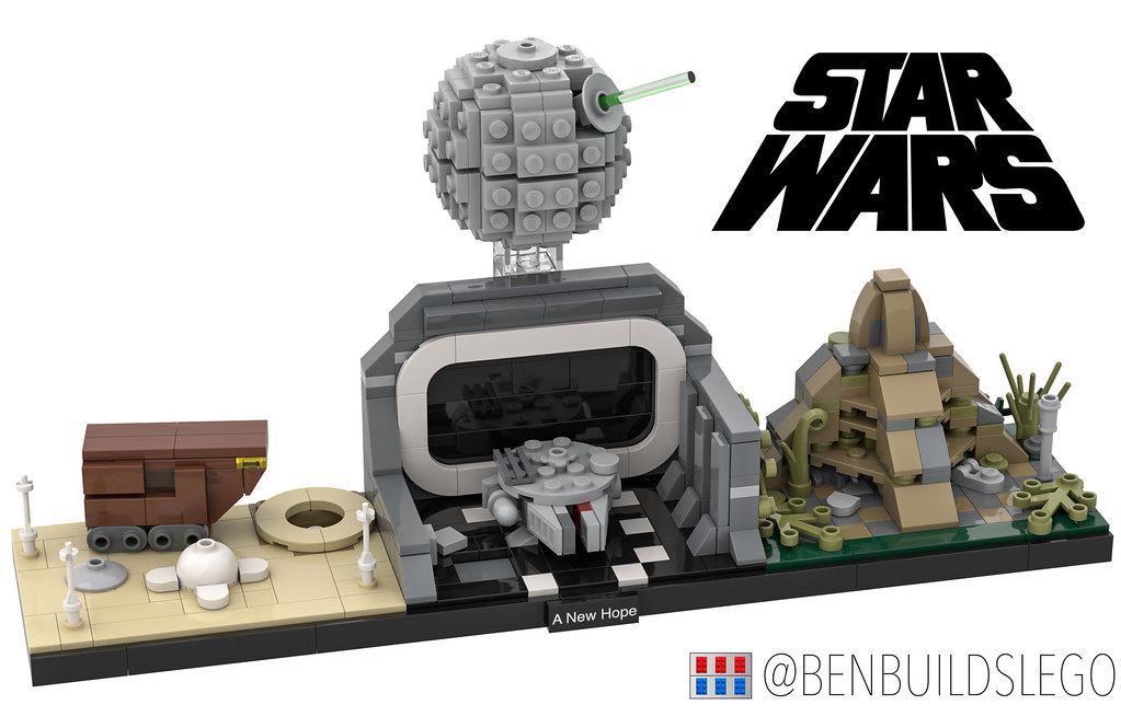 "Lego Star Wars – ""A New Hope"" Skyline MOC (custom built Lego model)"