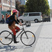 Cycliste à Christchurch