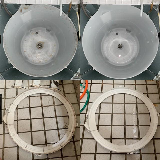 洗過的洗衣機內槽