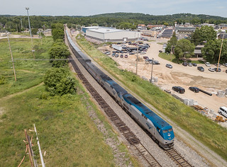 Amtrak AMTK 147 (P42DC) Eastbound Empire Builder Wisconsin Dells, Wisconsin