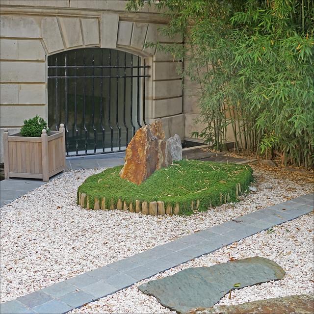 Le jardin de la Maison de thé (Hôtel d'Eidelbach, musée Guimet / MNAAG, Paris)