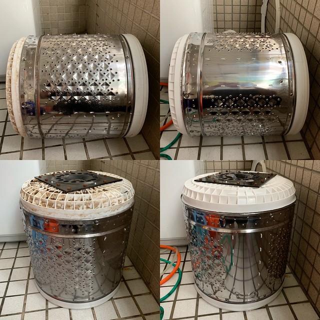 洗過的洗衣機桶身
