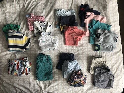 Packing for one adult and two kids for a long trip. EvinOK.com