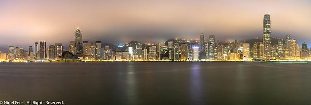 Hong Kong Harbour Morning Pano