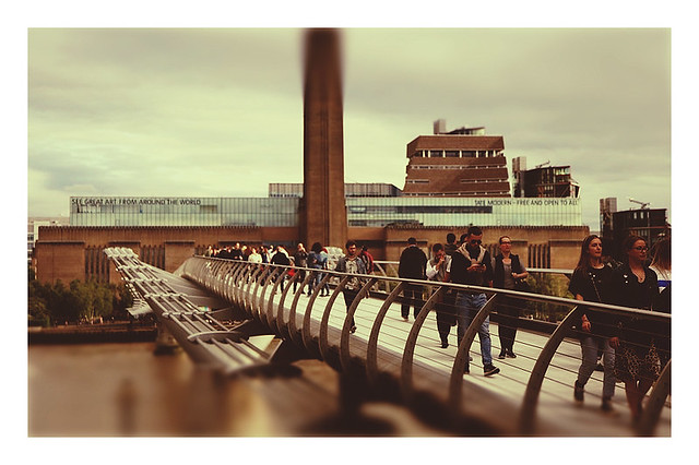 The Millennium Bridge And Tate Modern London