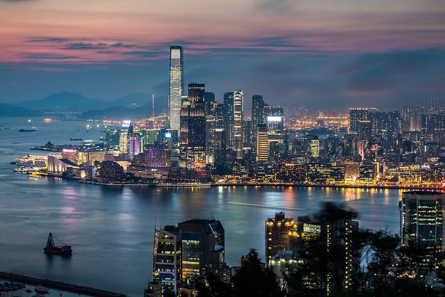 Hong Kong at blue hour