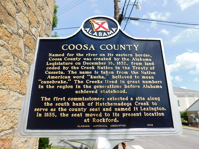 Coosa County Historic Marker