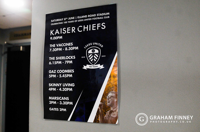 Kaiser Chiefs (w/ The Vaccines, The Sherlocks) @ Elland Road (Leeds, UK) on June 8, 2019