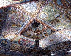 Polychrome ceiling of reconstructed Gwoździec synagogue (c. 1640), POLIN, Warsaw
