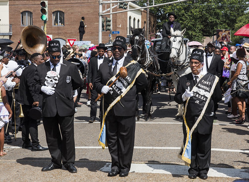 Young Men Olympians at Dr. John's funeral second line on June 22, 2019. Photo by Ryan Hodgson-Rigsbee RHRphoto.com