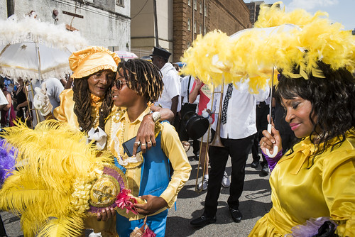 Baby Dolls at Dr. John's funeral second line on June 22, 2019. Photo by Ryan Hodgson-Rigsbee RHRphoto.com