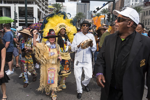 Spy Boy Honey at Dr. John's funeral second line on June 22, 2019. Photo by Ryan Hodgson-Rigsbee RHRphoto.com