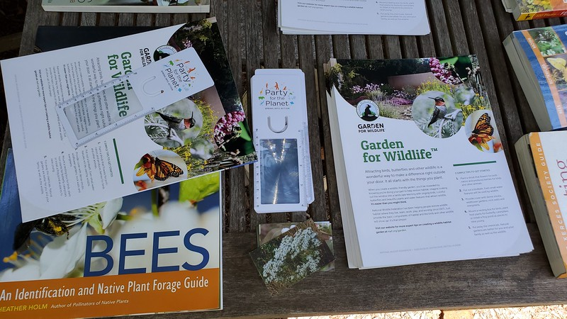 Gardening for Wildlife, and Birds, brochures, and magnifiers, generously provided by Jen Kepler of NY Aquarium
