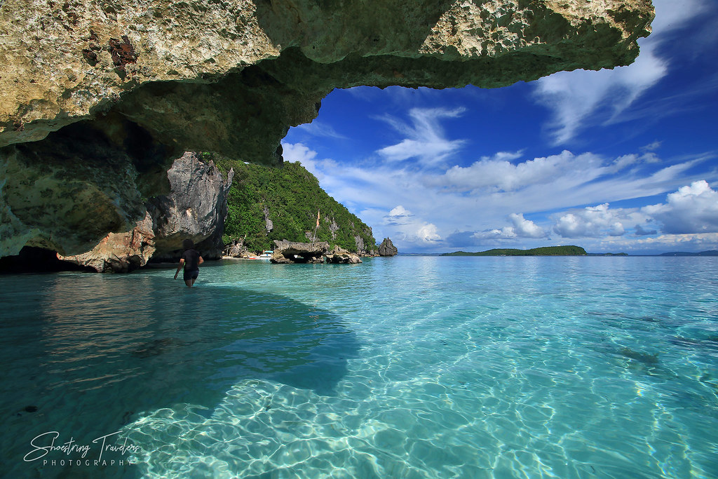 rock formations at Bitaog Beach's western section