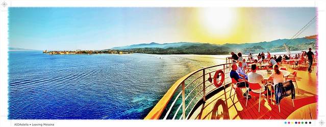 Leaving Messina - AIDAstella