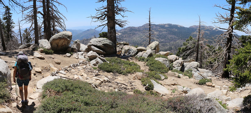 The view south toward Red Tahquitz and Tahquitz Peak from Hidden Lake Divide