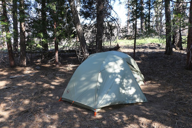 Our new Big Agnes Copper Spur HV UL2 Tent at Laws Camp