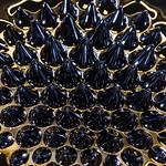 Ferrofluid + magnet + watercolor