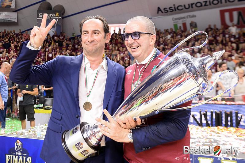 festeggiamenti: Federico Casarin e Walter De Raffaele