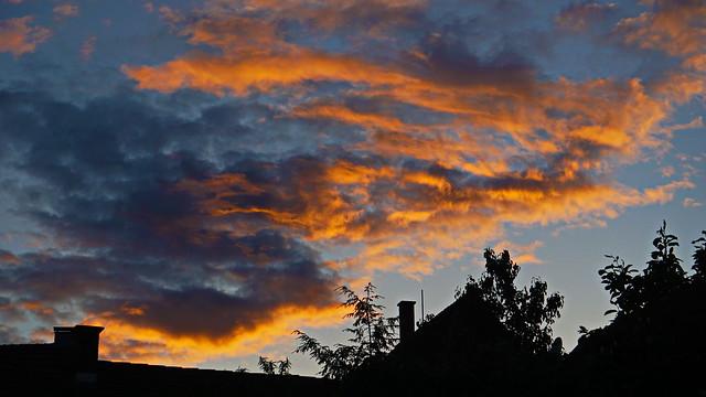 The sky is on fire, Varaždinske Toplice Croatia