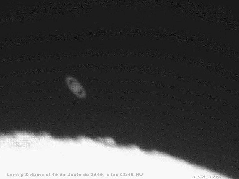 Saturno después de una ocultación lunar.