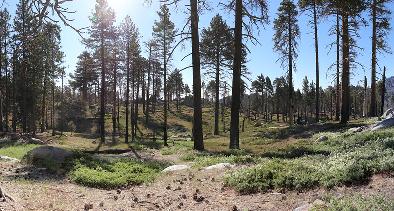 Panorama shot as we continue east on the Caramba Trail