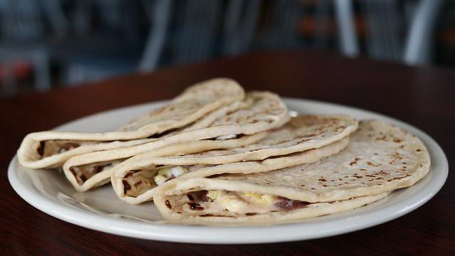 Baleadas from El Pollo Catracho Honduran Restaurant in Des Moines, Iowa