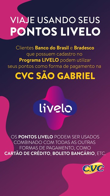 Aproveite as promoções e ofertas da CVC em São Gabriel!