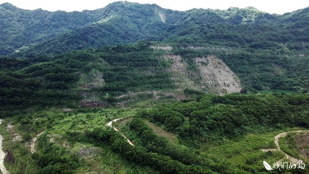 新竹縣關西鎮金山里,日治時期開始,就是石灰石採礦重鎮。