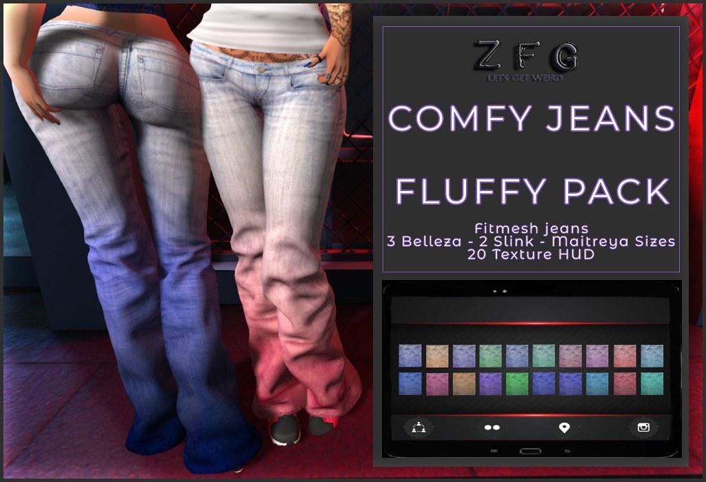{zfg} comfy jeans fluffy pack