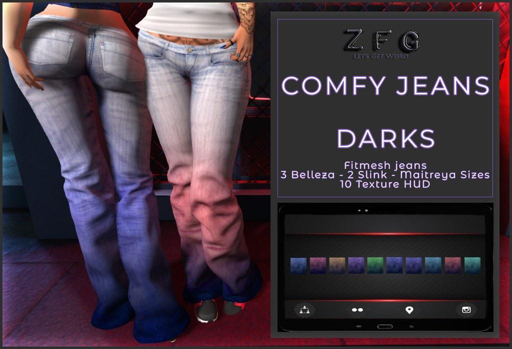 {zfg} comfy jeans darks