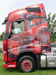 Customised Volvo FH Globetrotter, F1 Legend Michael Schumacher At The Thirsk Truck Show