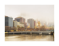 Melbourne on a foggy Sunday