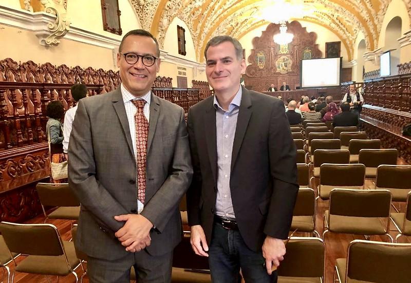 Carlos Mendoza y Rafael Luciani, coordinador del Proyecto Iberoamericano de Teología
