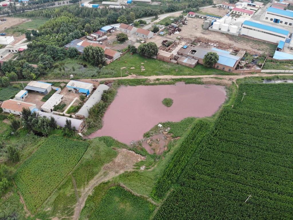 農村區的違法小型工廠規避審批成為污染農村水源的兇手。圖:董劍提供