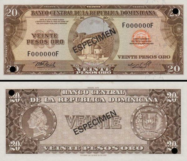 50 Pesos Oro Dominikánska republika 1975 P102a-s