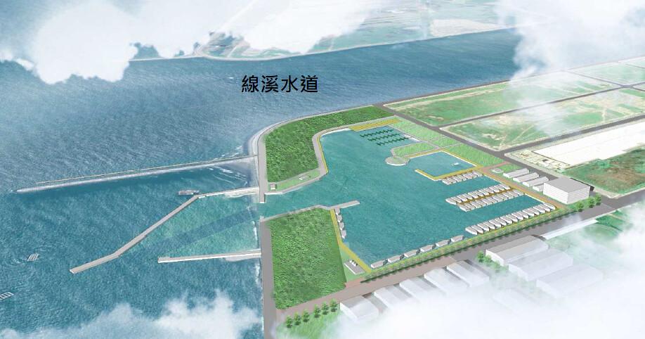 彰化漁港3D模擬示意圖。擷取自環評書件